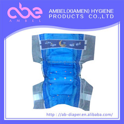 magic tape disposable baby diapers production line, wholesale baby diapers in China