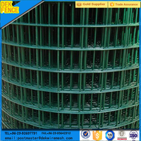 Pvc coated 3x3 square wire mesh fences form for dogs used