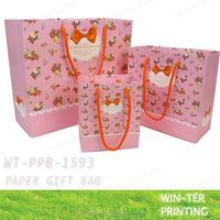 WT-PPB-1593-Pink( medium ) wholesale pink paper bags
