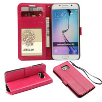 PU leather flip stand over case for samsung galaxy S6 edge plus