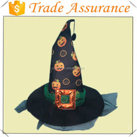 OEM Factory Halloween Printing Pumpkin Witch Hat