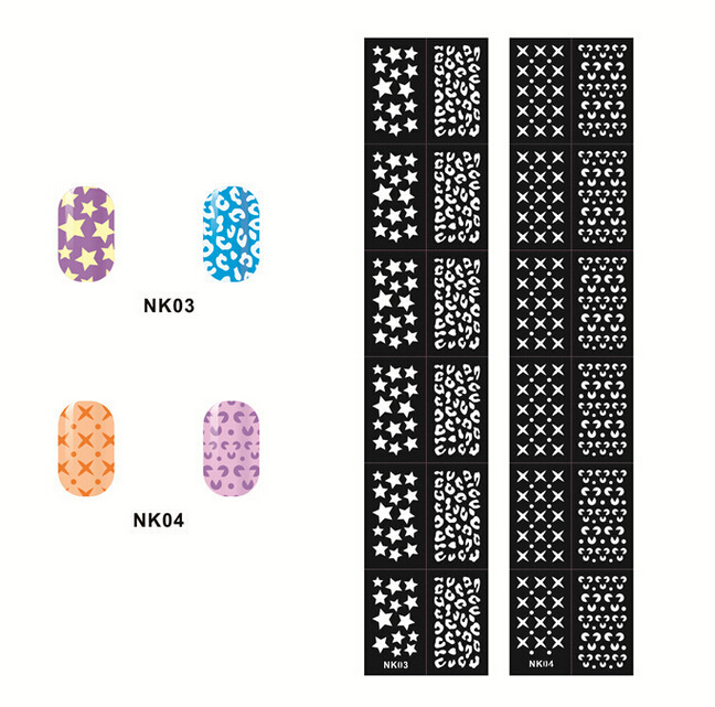 New Arrival !!! 12 Tips/sheet Nail Vinyls Easy Use Nail Art Manicure ...