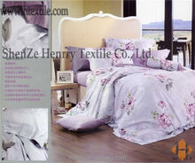 New Design Riches and honour flowers 100% Cotton Colorful silk Comforter,Sheet and Pillow cases Bedding Set