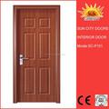 رخيصة منزل الاقتصادية أنواع الأبواب الخشبية sc-p101 التصميم الحديث