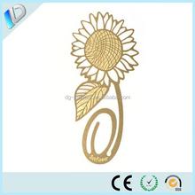 sunflower Custom Magnetic metal bookmark for wedding favor gift