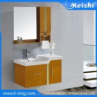 New style PVC wall hung clothes cabinet with mirror