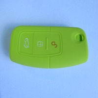 Soft remote silicon car 3d rubber key cover for Land rover/Buick/Ford/Chery/Audi/BMW car key case