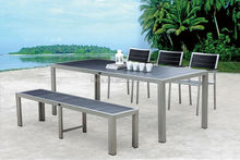 China Supplier of poly wood Outdoor Garden Furniture/ poly wood chair garden set/ patio garden funriture