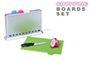 KC330 As Seen on TV 4PCS PP Chopping Block Sets Plastic Smart Cutting Board Sets
