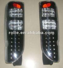 Auto piezas de repuesto de toyota hiace 2005-2009 cuántica reconfigurar iii de cristal led luz trasera( negro)