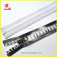 Best quality waterproof printed tape open end nylon zipper