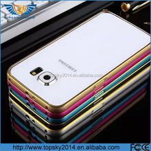 For Samsung Galaxy S6 S5 S4 Note 4 ultra thin buckle aluminum metal bumper case