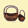 natural material wicker basket / handmade willow basket / fruit basket