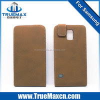 Newest Elegant Plain Grain Flip Pu Leather Case For Samsung Galaxy S5