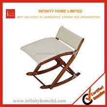 Foldable Antique Wood Reclining Rocking Chair