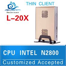 Intel atom D2800 CPU Fanless pc Computer Htpc brand pc L-20X support Audio,video video conference