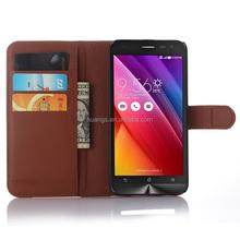 for zenfone 2 laser ze550kl case, Litchi Design With Credit Card Sltos Wallet Stand Flip leather case for ASUS ZenFone 2 ZE550KL