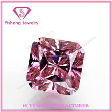 synthetic fancy cut pink cz stone gems wholesale