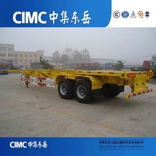 Liangshan CIMC Skeletal Container Sahara Semi Trailer With Bogie Suspension