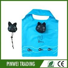 cartoon cat Shopping Bag folding polyester tote bagreusable folding tote bags