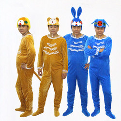 Adult cartoon costumes and dance suit