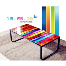 Cheap home goods used modern tempered glass coffee tables for sale