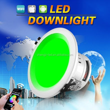 led light impact resistant down light with wifi network remote control