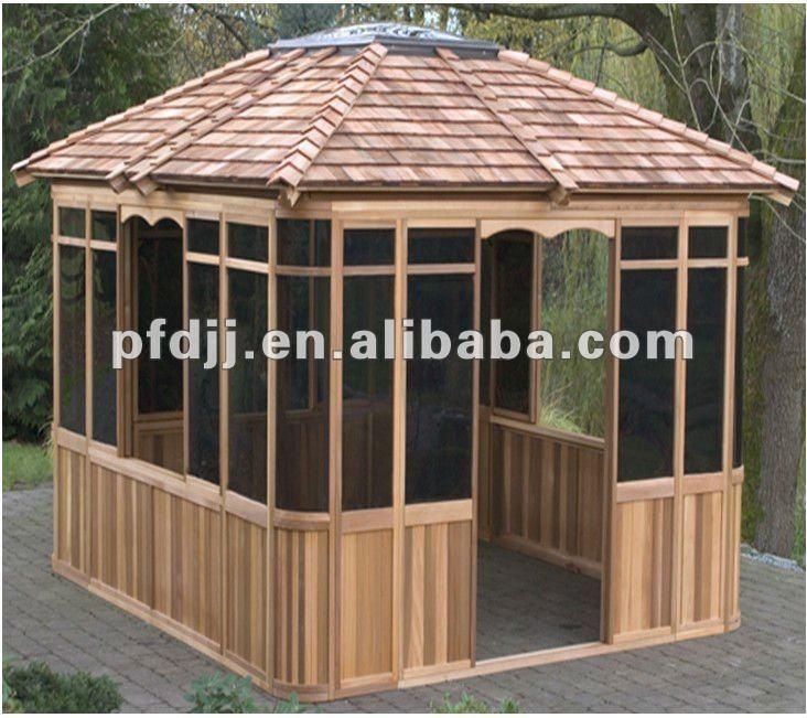 gazebo jardim madeira:Wooden Gazebo Designs
