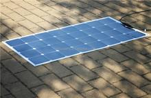 High efficiency sunpower 100W semi flexible solar panel with CE certifiate