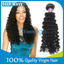 Wholesale human hair extensions 100% deep wave hairstyles for black women