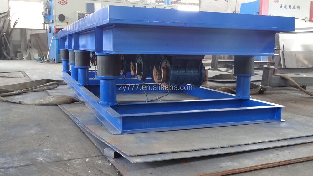 Table vibrator for concrete