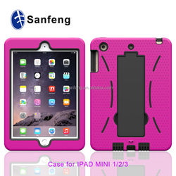 Cheap price high quality silicon phone cover for ipad mini 3 plastic case / useful back cover for IPad mini 3 protector case