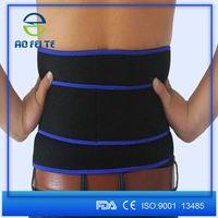 Leather Lumbar Waist Abdominal Belt Abdomen Back Support Belt