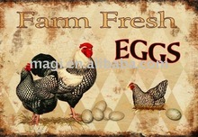 Fram Fresh Eggs Collectible Wall Metal Signs