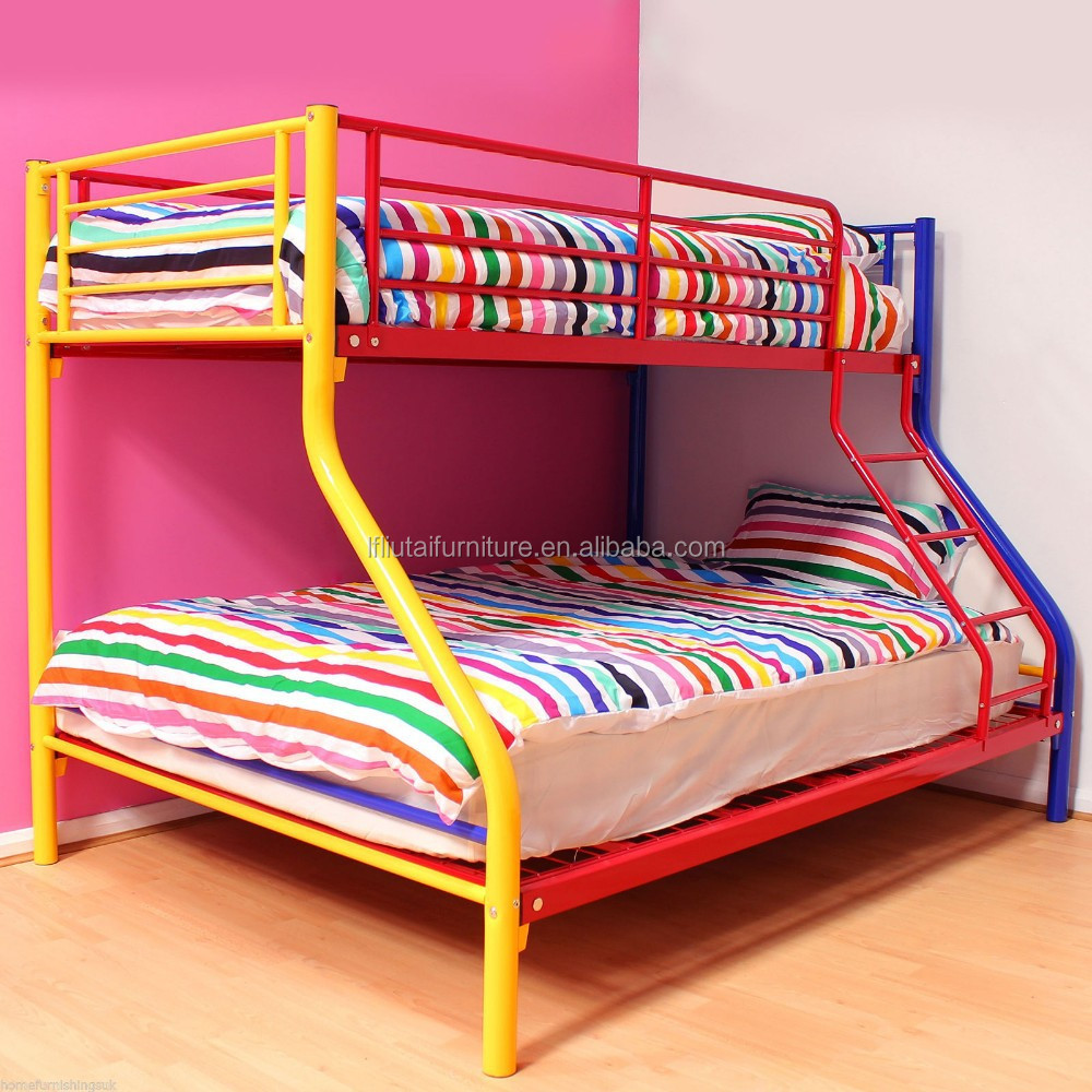 New model hot sale metal material kid double bunk bed for for New beds for sale