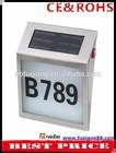 Fq-133 solar casa número luz solar doorplate