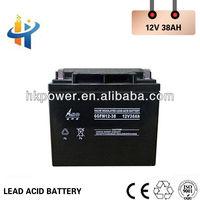 Aokete 12V 38AH sealed lead acid battery,high voltage ups battery, 38AH battery for solar system