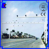3.5M ISO9001-2008,CE hot dip galvanized street light pole