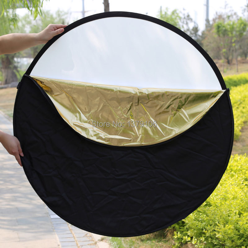 Godox 5 in 1 photography background reflector board collapsible 100 150cm lighting diffuser round reflector disc