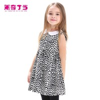 New Casual Cotton girl dress Sleeveless baby girls clothes Flowers girl dresses vestido infantil kids clothes