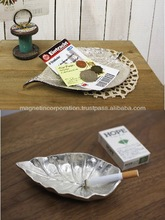 [Looking for Distributor]Aluminum Leaf Shape Tray in 3 Types (Sliver / Gold)