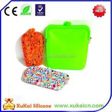 2015 wholesale hot sale silicone phone case bag, coin purse