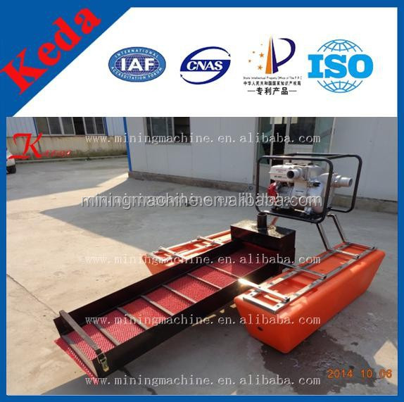 Portable Suction Dredge : Wholesale mini suction gold mining dredger for