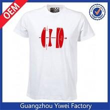 Cheap white cotton men custom t-shirt prices wholesale china