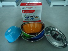 3 pcs food container stainless steel soup bowl with lid