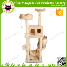 top products hot selling new 2015 designer cat tree house condo with hammock