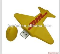 customized logo Promotional gift Plane Shape PVC/ABS USB Thumb Drive