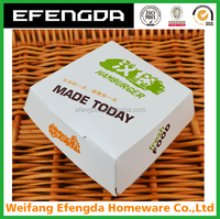 corrugated fast food packing box