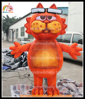 hot sell ! cartoon characters , moving cartoon, inflatable cat cartoon for events