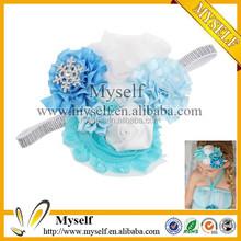 Large flower headbands kids hair accessories